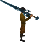 Rune 2h sword equipped