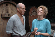 Patrick Stewart and Samantha Eggar