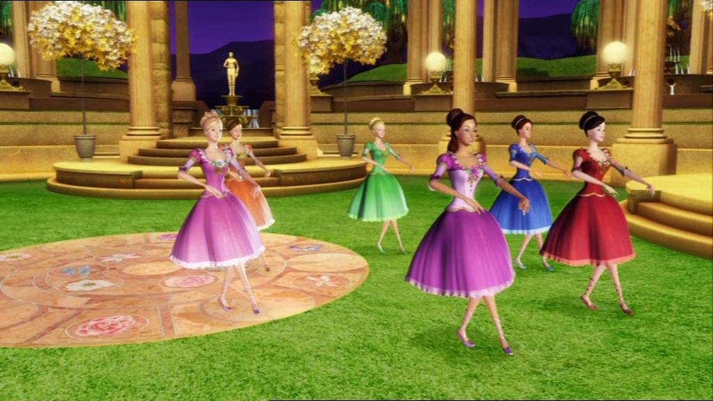 New kids cartoons barbie 12 dancing princesses full video - Barbie 12 princesse ...