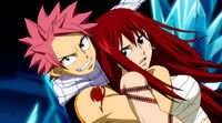 Natsu saves Erza