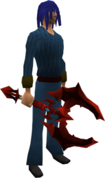 Dragon battleaxe equipped