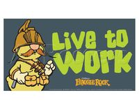 Poster Fraggle Rock-Live To Work