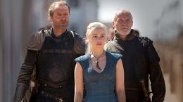 Jorah, Daenerys y Arstan HBO