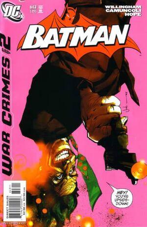 Cubierta para el Batman # 643