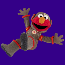 Elmo pizza astronaut