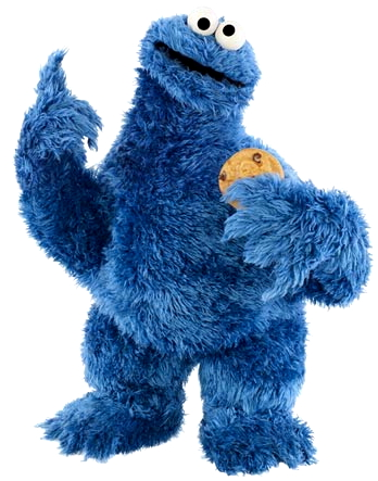 "Cookie Monster as he appeared in ""Sesame Street"""