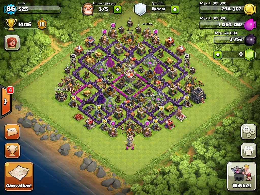 Clash of Clans Defense Setup