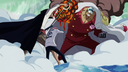 Shanks defendiendo a Coby