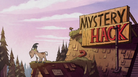 S1e5 goat on mystery shack roof
