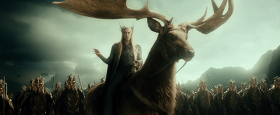 Thranduil an der Spitze seiner Armee