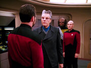 Krag comes to arrest Riker