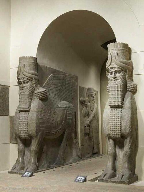 Lamassu From The Citadel Of Sargon Ii