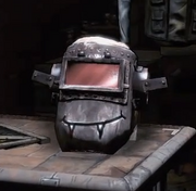 Sledge's New Helmet