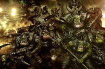 Ork Warboss with Group