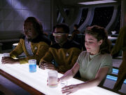 Worf, La Forge, and Henshaw