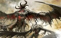 Video games wings horns artwork guild wars 2 chains demon hooks 1440x900 wallpaper www.artwallpaperhi.com 71