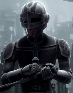 Unidentified Mandalorian secret service officer 3