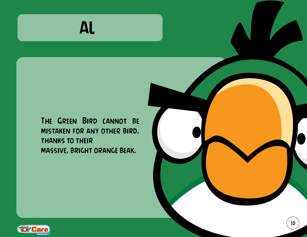 Green Birds Names Angry Birds Names