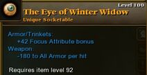 Eye Winter Widow 100