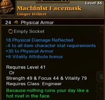 Machinist Facemask