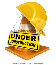 Stock-photo-helmet-for-builder-worker-traffic-cones-under-construction-sign-icon-isolated-on-white-106063214