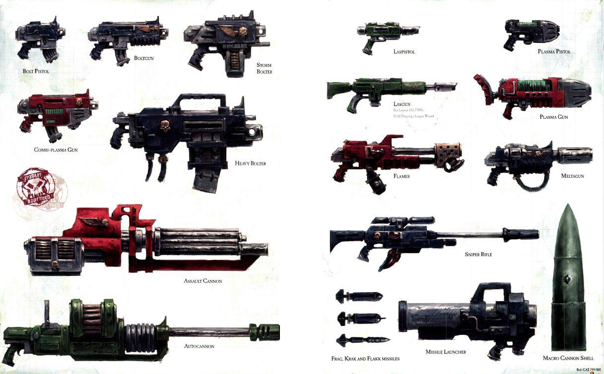 Weapons of the imperium - warhammer 40k wiki - space marines, chaos