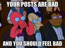 Zoidberg This Post Is Bad