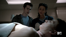 Teen Wolf Season 3 Episode 3 Fireflies Dylan O'Brien Melissa Ponzio Stiles and Melissa McCall investigate