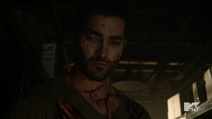 Teen Wolf Season 3 Episode 3 Fireflies Tyler Hoechlin Derek Hale covered in blood