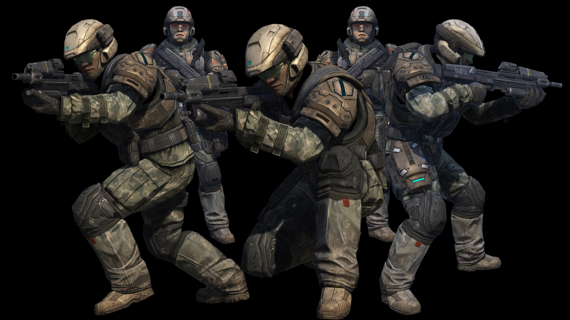 Group of Halo Reach Marine And