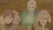 Tsunade curando Gaara e Onoki