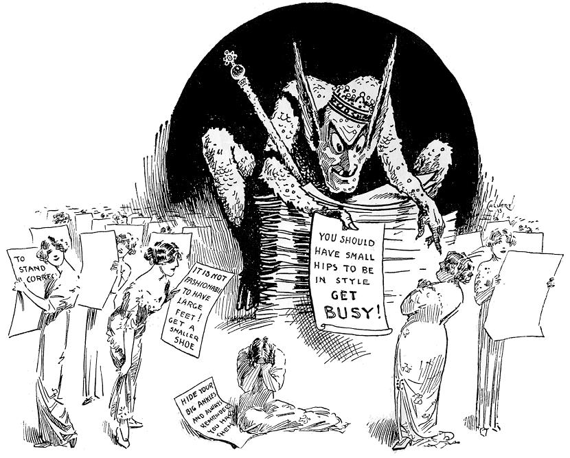 1913-Dictates-of-Fashion-Calvert-Life-cartoon