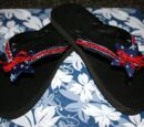 Patriotic Flip-Flops