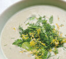 Hot Yoghurt and Broad Bean Soup