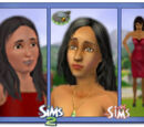 Sims wearing makeup