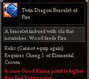 Twin Dragon Bracelet of Fire