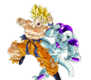 Goku Super Saiyajin vs Freezer 100% de Poder