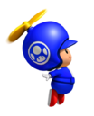 NSMBW Artwork Propeller-Blauer Toad.png
