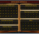 Dungeoneering journals