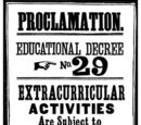 Educational Decree Number Twenty-Nine (non-canonical)