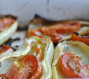 Baked Peppers with Heirloom Tomatoes