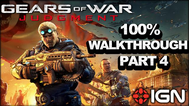 Gears of War Judgment Walkthrough - Great Hall - Declassified Mission and Cog Tag (Part 4)