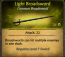 Light Broadsword