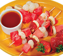 Japanese Fruit Skewers with Plum Sauce