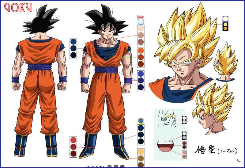 Character Design Dragon Ball Z : Goku character design and on pinterest