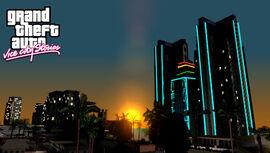 Una de las vistas más hermosas de Vice City en el amanecer.