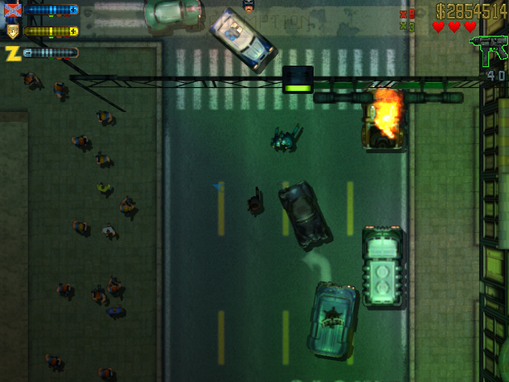 The police pursue the player in the PC version