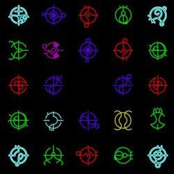 Forerunner symbols.