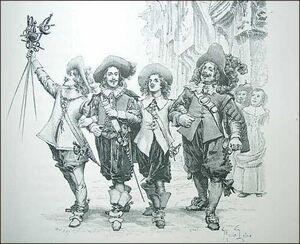 The Three Musketeers and d'Artagnan, from Dumas