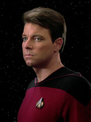 Jonathan Frakes as Commander William Thomas Riker in Star Trek The Next generation (TNG)
